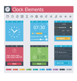 Clock elements vector image vector image