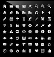 cms content management system web icons a big set vector image