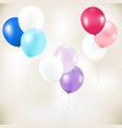 color pastel balloons vector image vector image
