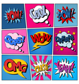 Comic Bubbles Set Expressions Pop Art vector image vector image