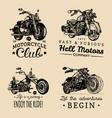 custom chopper and motorcycle logos set vintage