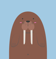 cute big fat walrus vector image vector image