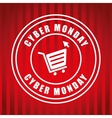 Cyber monday ecommerce design vector image vector image