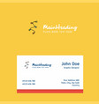 decoration light logo design with business card vector image vector image