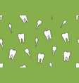 dental seamless pattern - tooth type vector image
