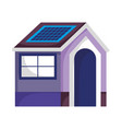 eco friendly house with solar panel sustainable vector image vector image