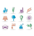 environment and nature icons vector image