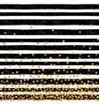 Festive pattern of random gold dots vector image