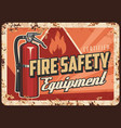 fire safety equipment and devices banner vector image vector image