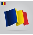 Flat and waving Romanian Flag vector image vector image