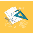 flat education or office content vector image vector image