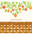 Fruit tree branch vector image