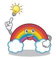 have an idea colorful rainbow character cartoon vector image