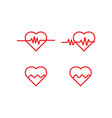 heart pulse logo icon template vector image