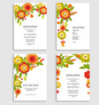 holiday floral invitations set vector image