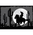 Horseman rides in the desert vector image vector image
