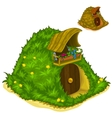 House inside of hill for magical inhabitants vector image vector image