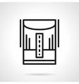 Humidifier line black line icon vector image vector image