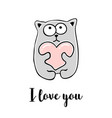 i love you hand drawn greeting card vector image vector image