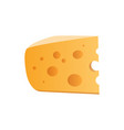 icon of cheese with holes isolated on white vector image vector image