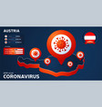 isometric map austria with highlighted country vector image vector image