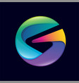 letter g abstract colorful 3d logo vector image vector image