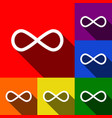 limitless symbol set of vector image vector image