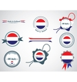 Made in Netherlands - set of seals badges vector image