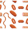 meat and sausages icons pattern or back ill vector image