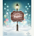 merry christmas party flyer background with vector image vector image