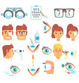ophthalmologist diagnostic set treatment and vector image vector image