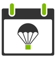 Parachute Calendar Day Flat Icon vector image vector image