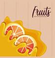 pattern of fresh oranges sliced fruit vector image vector image
