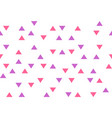 pink purple colorful abstract triangles retro vector image vector image