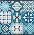realistic ceramic floor tiles ornaments icon set vector image vector image