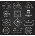 Retro Coffee Labels Black vector image vector image