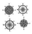 rose of winds arrows nautical compass vector image