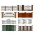 set gates and fences vector image