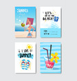 set sunny beach badge isolated typographic design vector image vector image