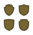 shield shape bronze icons set simple silhouette vector image vector image