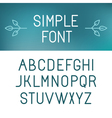 simple font vector image