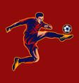 soccer ball player vector image