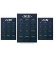 spanish calendar 2010-2021-2022 template vector image