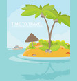 summer vacation holiday tropical ocean island vector image vector image