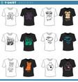 t shirt decorative designs set vector image vector image