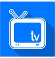 television symbol vector image
