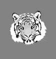 the tiger animal head icon vector image vector image