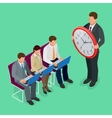 Time management concept planning organization vector image