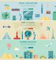 travel and tourism headers banners concept vector image