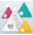 triangle background Color object vector image vector image
